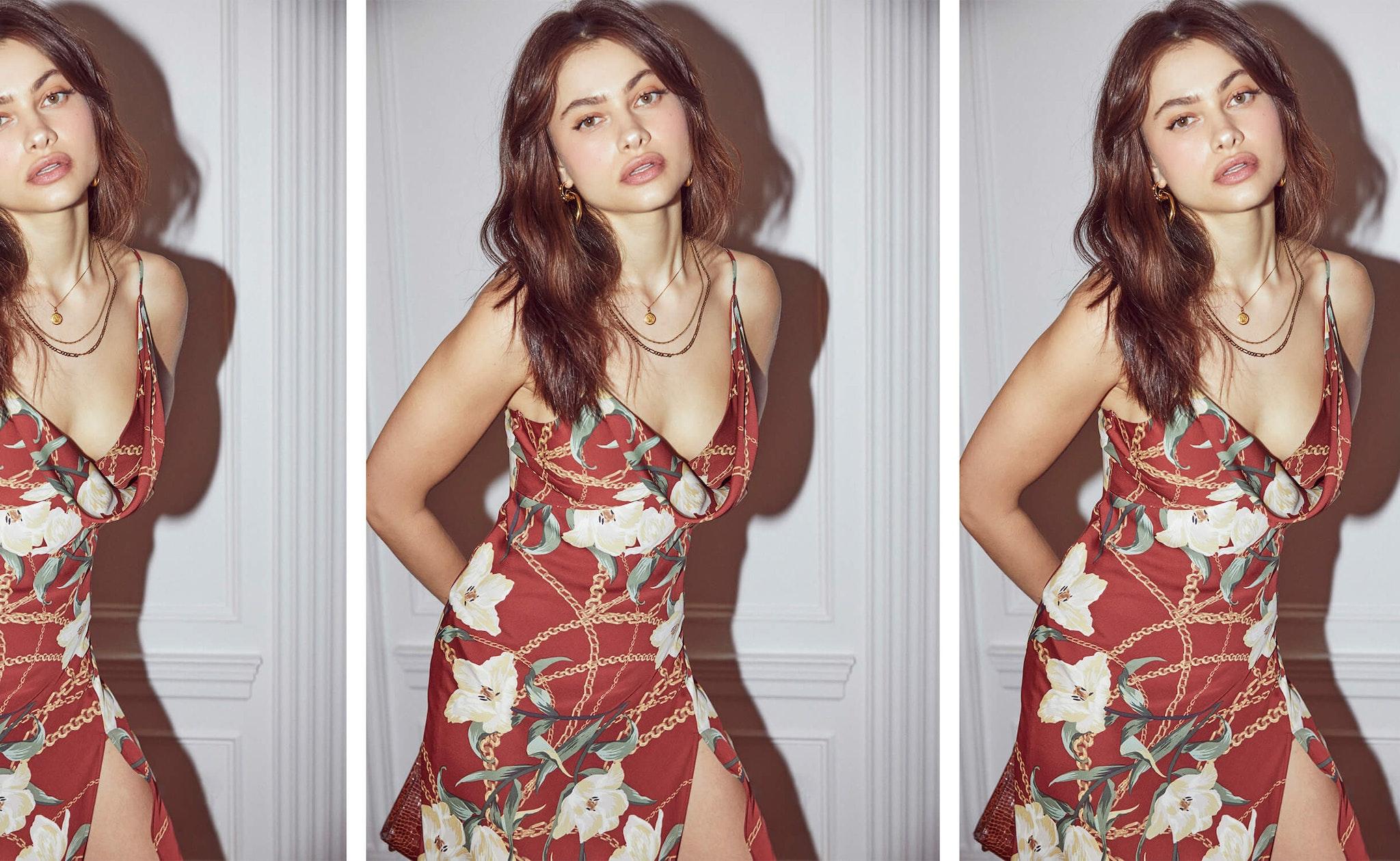 Jolie Floral Print Midi Dress