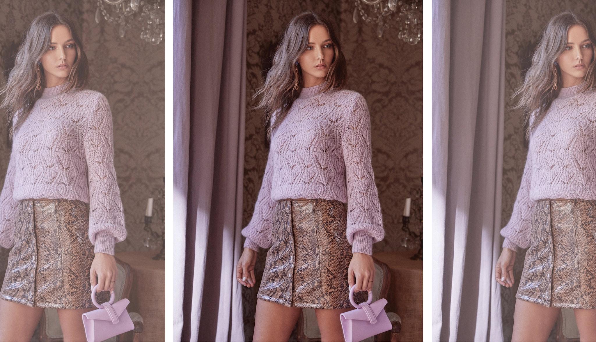 Audra Pointelle Sweater