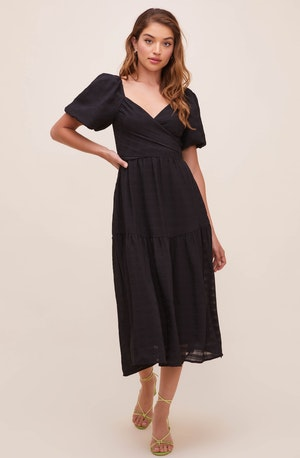 Sonnet Puff Sleeve Midi Dress