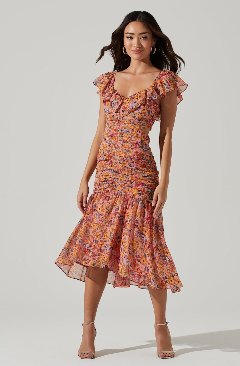 Devereaux Cutout Floral Dress
