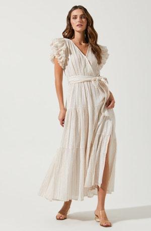 Rhiannon Ruffle Sleeve Maxi Dress
