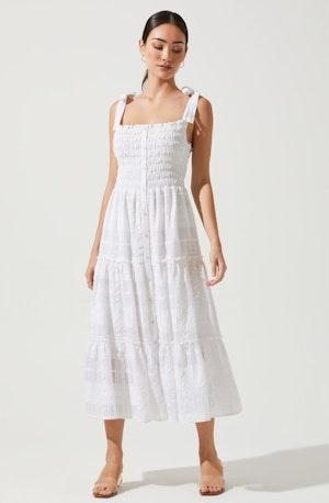 Dita Smocked Midi Dress