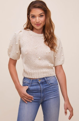 Giana Pearl Embellished Sweater