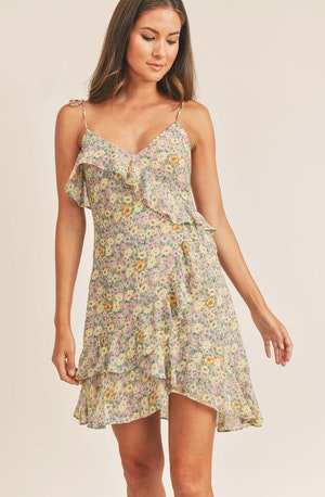 Sweetheart Neck Flare Dress - This dress is a cool option to pull off your holiday look. It showcases a captivating sweetheart neckline. The dress also has cute ditsy floral motifs that add to its chic look.