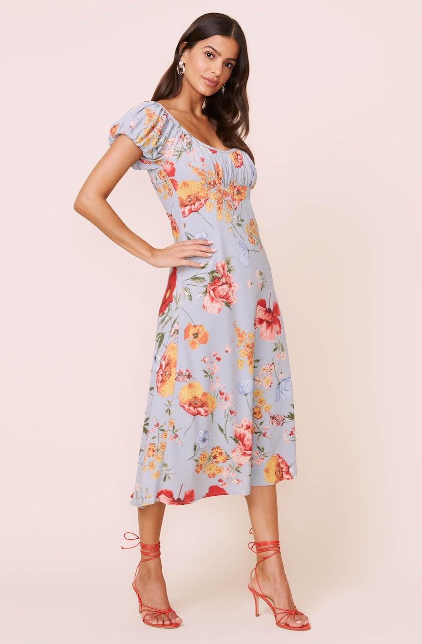 Donna Floral Midi Dress