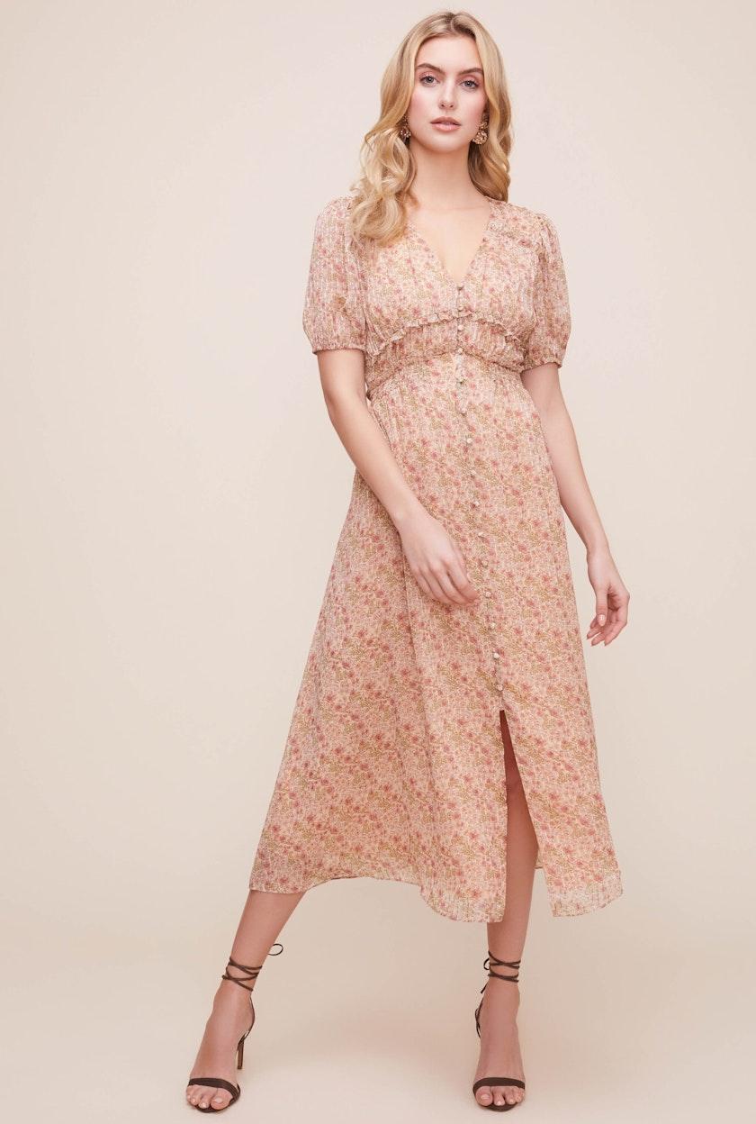 Love Story Floral Midi Dress