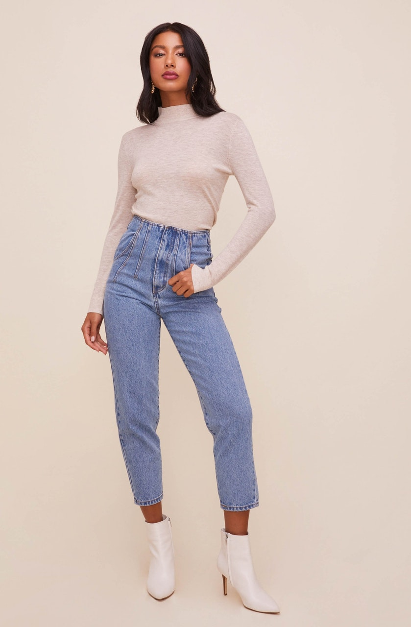 Mineral Wash High Waist Denim