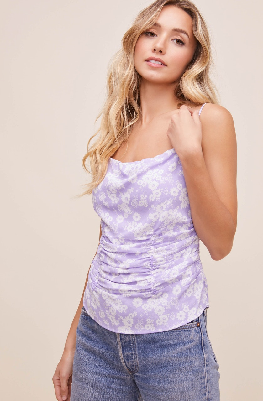 Ruched Floral Cami