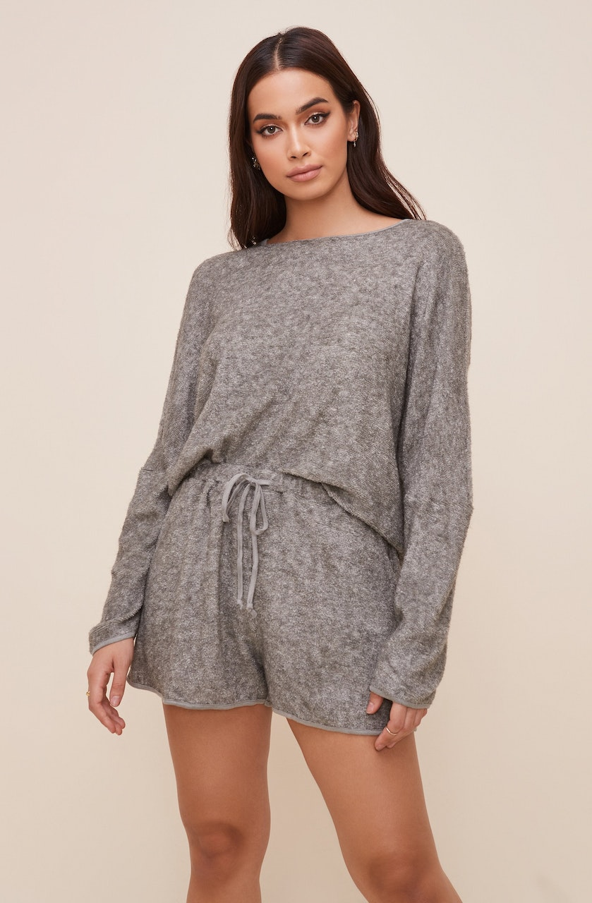 Knit Sweater and Shorts Lounge Set